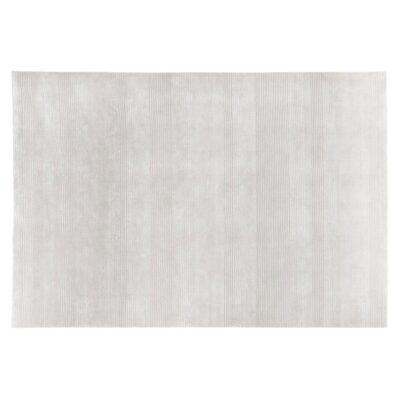 handwoven wool/viscose Ray cream rug by Ligne Pure