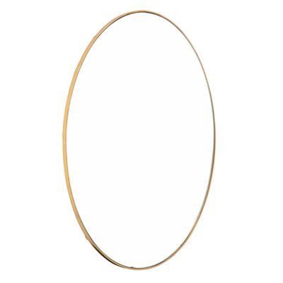 Round gold mirror by Bloomingville