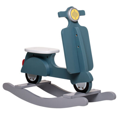kids wooden Scooter rocking toy by Bloomingville