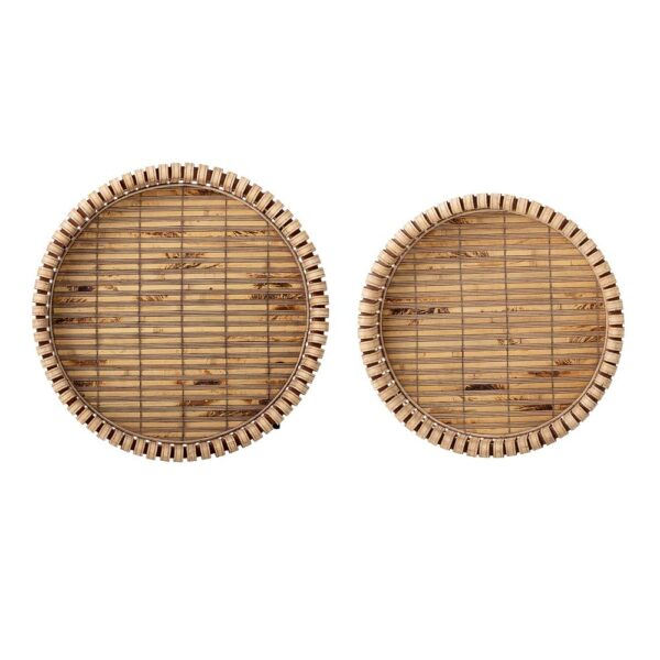 Set of 2 bamboo side tables by Bloomingville