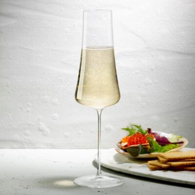 Handmade Lead-free crystal Stem Zero Champagne Glass by Nude