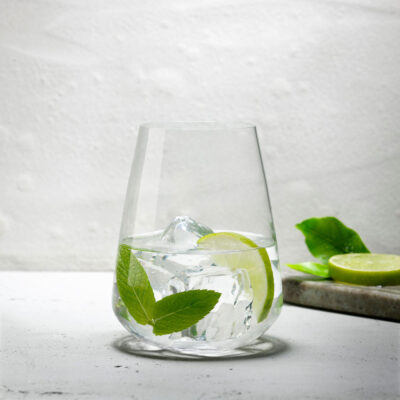 Handmade Lead-free crystal Stem Zero Water Glass by Nude