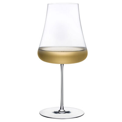 Handmade Lead-free crystal Stem Zero White WIne Glass by Nude