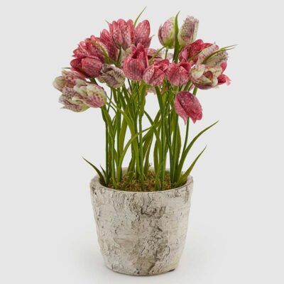 Vase with artificial Tulip by EDG