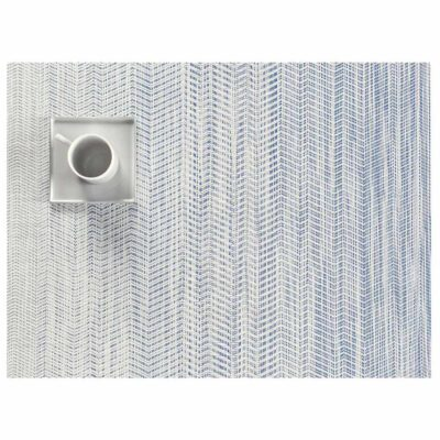Rectangle Blue and white placemat by Chilewich