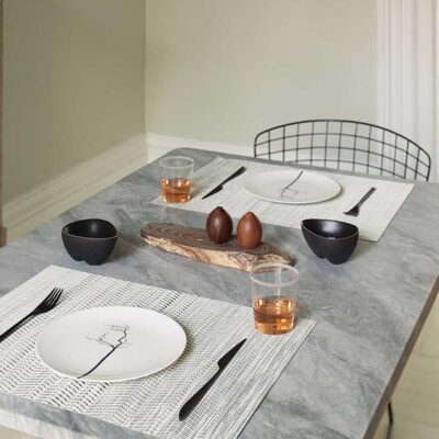 Wave Rectangle Blue placemat by Chilewich