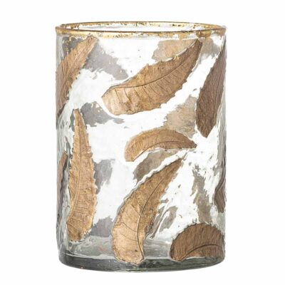 bronze feather glass Votive by Bloomingville