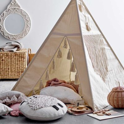 beige children Tipi made of cotton by Bloomingville