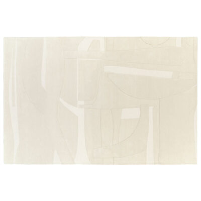 collage white rug designed by Pascale Risbourg by Toulemonde Bochart