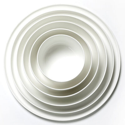 white porcelain high plate base by Serax