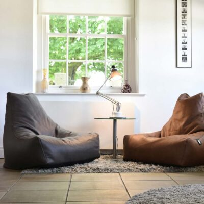 indoor pouffe bag luxury charcoal by Extreme Lounging