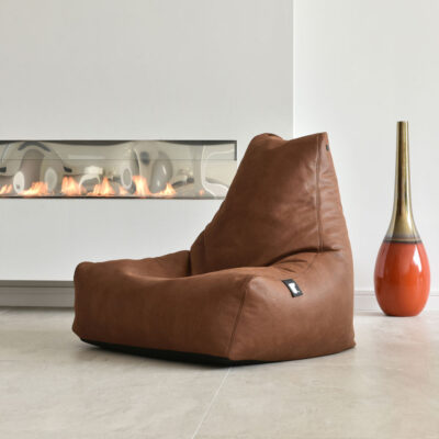 indoor pouffe bag luxury chesnut by Extreme Lounging