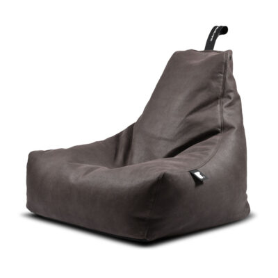 indoor pouffe bag luxury slate by Extreme Lounging