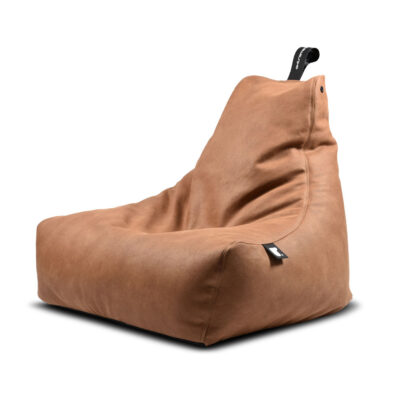 indoor pouffe bag luxury tan by Extreme Lounging