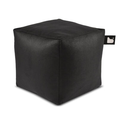 indoor box pouffe luxury charcoal by Extreme Lounging