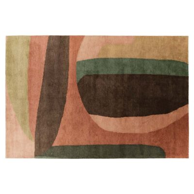 loft pink and green rug designed by Pascale Risbourg by Toulemonde Bochart