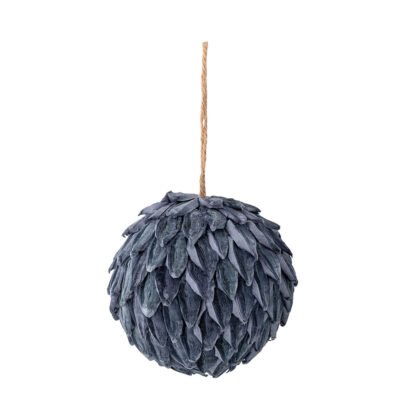 nordic blue christmas bauble by Bloomingville