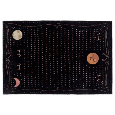 ouranos black rug designed by Jean Jacques Beaume by Toulemonde Bochart