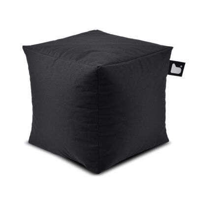 outdoor box black pouf by Extreme Lounging