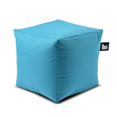outdoor box blue pouf by Extreme Lounging