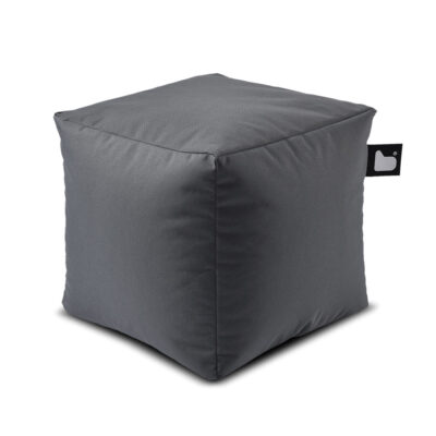 outdoor box grey pouf by Extreme Lounging