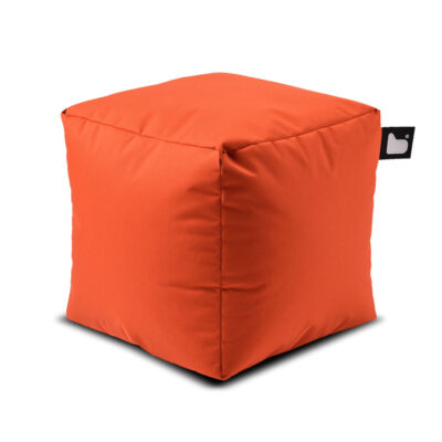 outdoor box orange pouf by Extreme Lounging