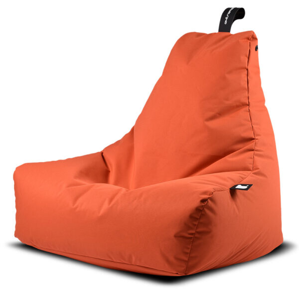 outdoor mighty orange bean bag by Extreme Lounging