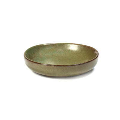 small plate for olives small camo green surface by Serax