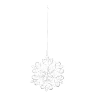 white paper snowflake hanging decoration by Bloomingville