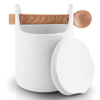 Toolbox storage jar with spoon 15cm white by Eva Solo