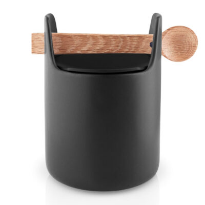 Toolbox storage jar with spoon 15cm black by Eva Solo