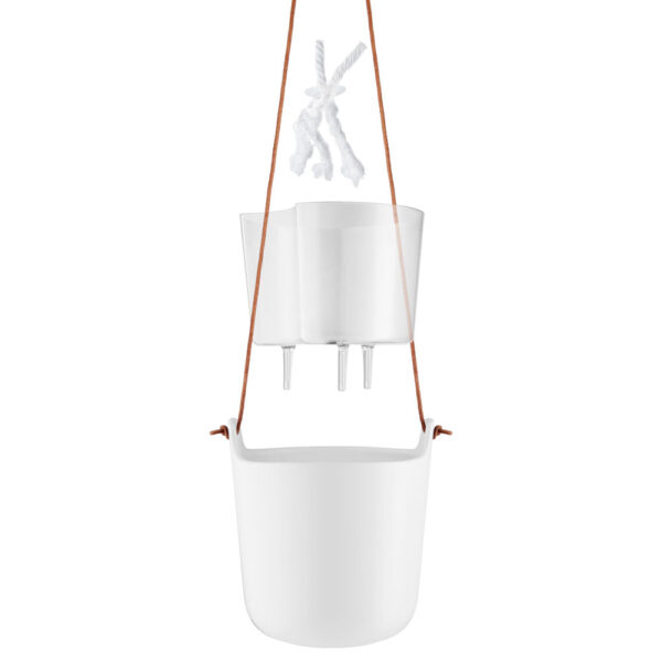 Selfwatering Clay White Hanging Pot by Eva Solo
