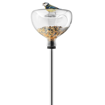 Glass bird table with bath by Eva Solo
