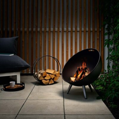 Fireglobe log holder by Eva Solo