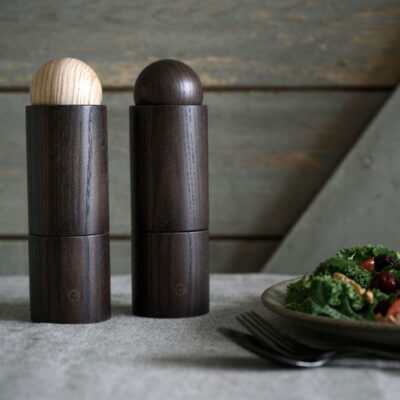 salt and pepper grinder 18cm set ash