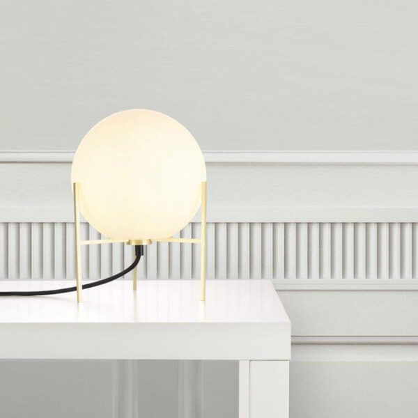 sphere with Gold base Table Lamp by Nordlux