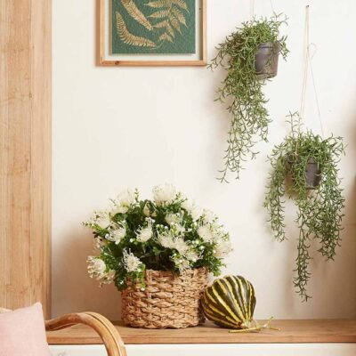 Artificial hanging plant h55