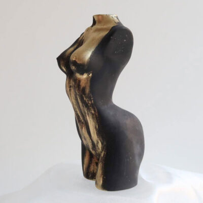 Athena sculpture gold truffle by Sainté