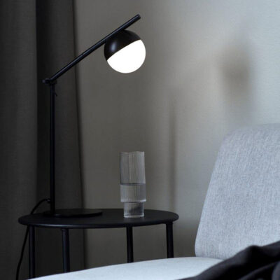 Black Table Lamp with sphere by Nordlux