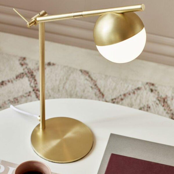 Brass Table Lamp with sphere by Nordlux