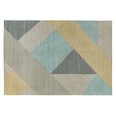 Dash blue rug by asiatic carpets