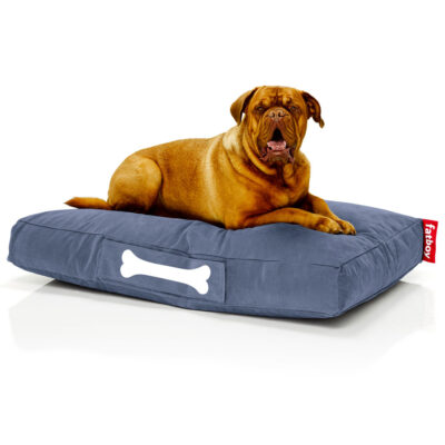 Doggielounge Stonewashed blue large dog bed by Fatboy