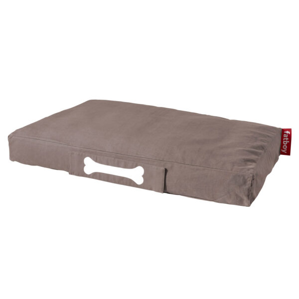 Doggielounge Stonewashed taupe large dog bed by Fatboy