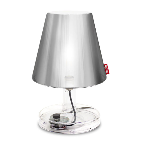 metallicap silver table lamp by Fatboy