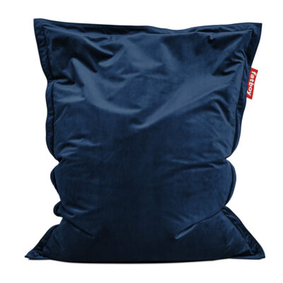 Original Slim velvet dark blue Fatboy bean bag