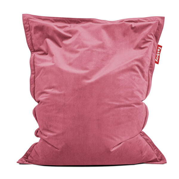 Original Slim velvet deep blush Fatboy bean bag