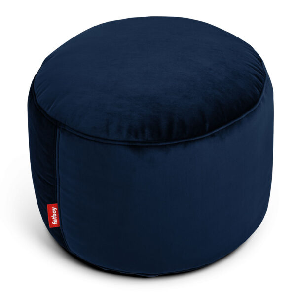 Point velvet dark blue round Fatboy bean bag