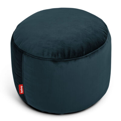 Point velvet petrol round Fatboy bean bag