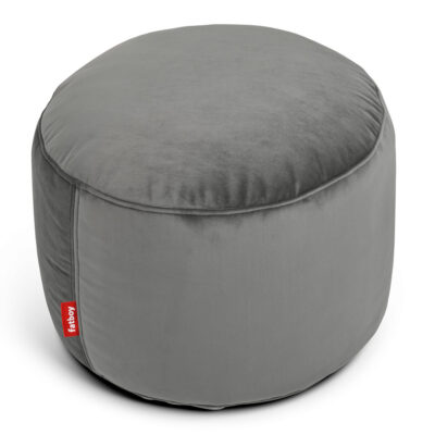 Point velvet taupe round Fatboy bean bag