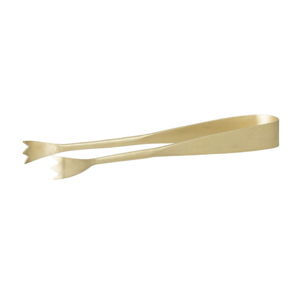 Gold stainless steel tongs by Bloomingville